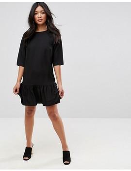 Asos Drop Waist Pep Hem Shift Dress by Asos Collection