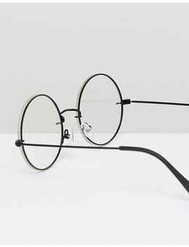 "<A Href=""#"">Asos Design Round Glasses In Black With Laid On Clear Lens</A> by Asos Design"