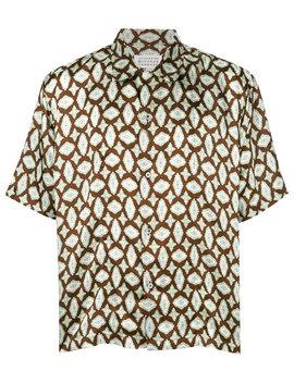 Printed Half Sleeve Shirt by Maison Margiela