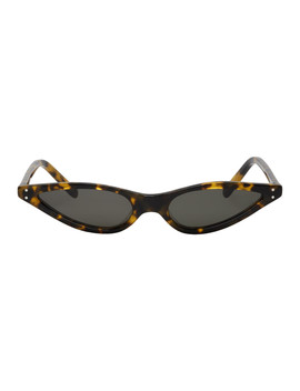 Tortoiseshell Micro Cat Eye Sunglasses by George Keburia