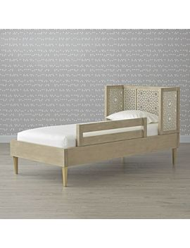 Genevieve Gorder Grey Bed Rail by Crate&Barrel