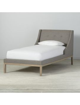 Gallery Grey Twin Wing Bed by Crate&Barrel