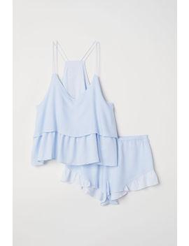 Pyjama Mit Top Und Shorts by H&M