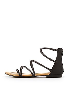 Faux Leather Gladiator Sandals by Charlotte Russe