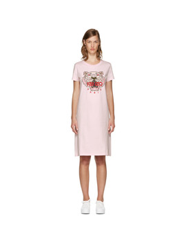 Pink Limited Edition Tiger T Shirt Dress by Kenzo