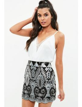 White Lace Insert Cami Top by Missguided