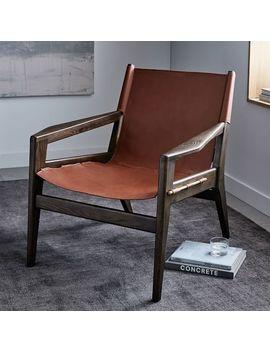 Felipe Leather Sling Chair by West Elm