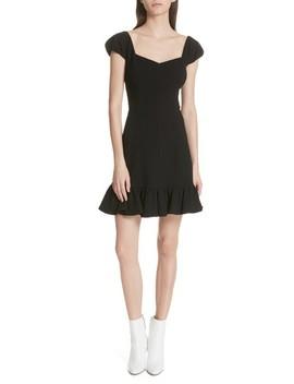 Cap Sleeve Ruffle Hem Dress by Rebecca Taylor