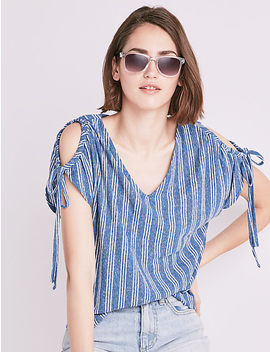 Tie Shoulder Button Back by Lucky Brand