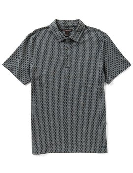 Michael Kors Diamond Print Short Sleeve Polo Shirt by Michael Kors