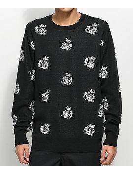 Obey Shepard Rose Black Sweater by Obey
