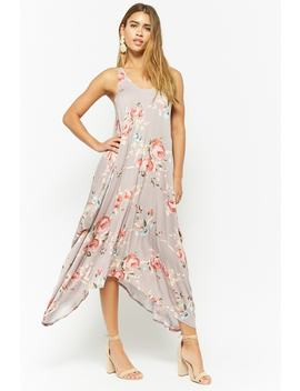 Billowy Floral Print Dress by Forever 21