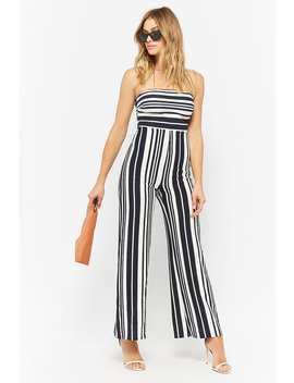 Strapless Striped Jumpsuit by F21 Contemporary