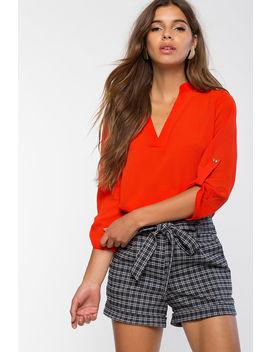 Leanne V Neck Shirt by A'gaci
