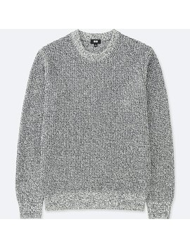 Pull Grosses Mailles GaufrÉes Col Rond Homme by Uniqlo