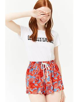 Floral Drawstring Shorts by Forever 21