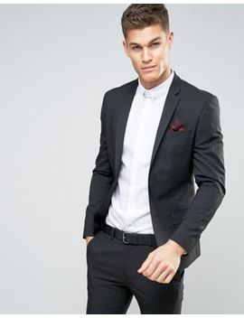 River Island Skinny Fit Suit Jacket In Black by River Island