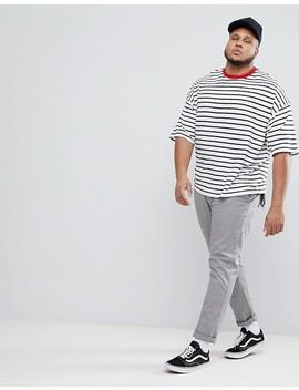 Asos Design Plus Oversized Stripe T Shirt by Asos
