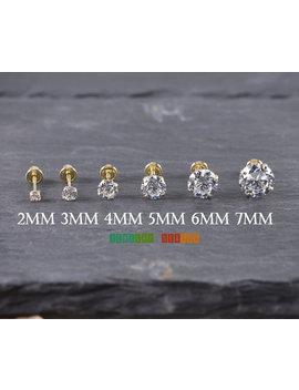 Solid 14 K Yellow Gold Stud Screw Back Earrings 2mm 3mm 4mm 5mm 6mm 7mm Yellow Gold Baby Toddler Children Girls Womens Round Stud Earrings by Etsy