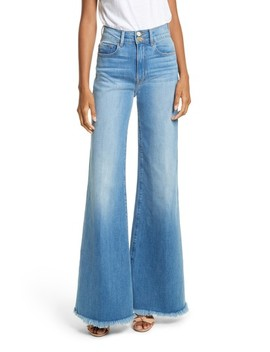 Le Palazzo High Waist Raw Edge Jeans by Frame