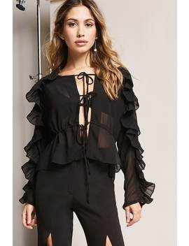 12x12 Ruffled Chiffon Top by Forever 21