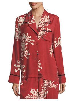 Button Front Pajama Silk Shirt by Mc Q Alexander Mc Queen