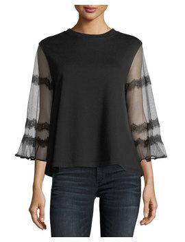 Goth Hybrid Sheer Sleeve Top by Mc Q Alexander Mc Queen