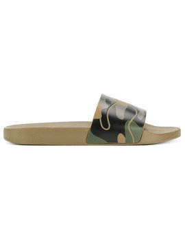Camouflage Rubber Slides by Valentino