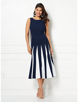 Eva Mendes Collection   Grace Pleated Sweater Dress by New York & Company