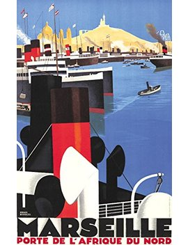 Marseille   Porte De L'afrique Du Nord Vintage Poster (Artist: Broders, Roger) France C. 1929 (12x18 Collectible Art Print, Wall Decor Travel Poster) by Lantern Press