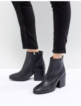 Pull&Bear Pointed Toe Heeled Ankle Boot by Pull&Bear