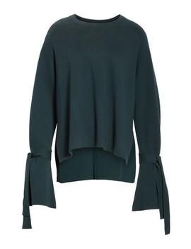 Merino Wool & Silk Bell Sleeve Pullover by Tibi