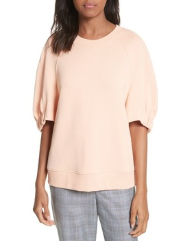 Short Sleeve Sweatshirt by Tibi