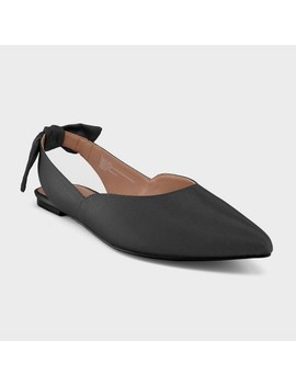 Women's Misha Grograin Bow Ballet Flats   Who What Wear™ Black 6 by Who What Wear