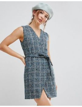 Unique 21 Sleeveless Blazer Dress In Textured Tweed by Unique 21