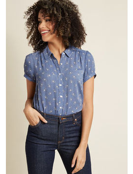 Breezy Peasy Button Up Top Breezy Peasy Button Up Top by Modcloth