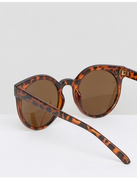 Солнцезащитные очки в круглой черепаховой оправе 7 X by Asos