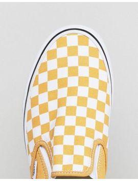 Vans Classic Checkerboard Slip Ons In Yellow Va38 F7 Qcp by Vans
