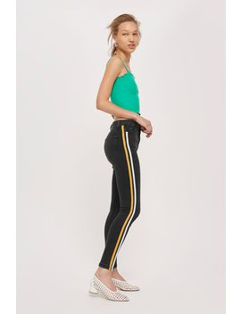 Moto Yellow Side Striped Jamie Jeans by Topshop