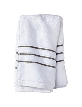 Hand Towel White/Gray Stripe   Fieldcrest™ by Fieldcrest