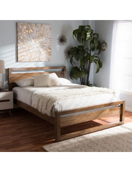 Baxton Studio Torino Mid Century Modern Open Frame Style Platform Bed by Asstd National Brand