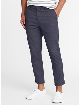 Relaxed Slim Built In Flex Cropped Signature Pants For Men by Old Navy