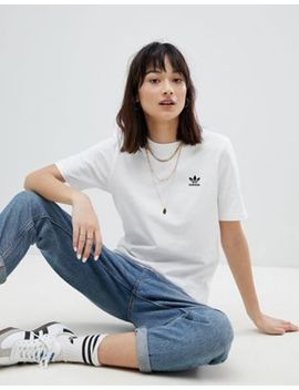 Adidas Originals Mini Logo T Shirt In White by Adidas
