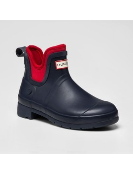 Hunter For Target Women's Waterproof Ankle Boots   Navy/Red by Hunter For Target