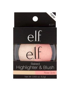 E.L.F. Rose Gold Baked Highlighter & Blush, 0.183 Oz by E.L.F. Cosmetics