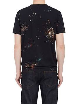 Fireworks Print T Shirt by Valentino