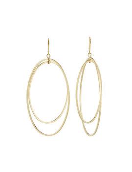 Double Open Oval Fishhook Earrings by Kenneth Jay Lane