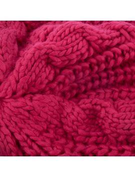 Unisex Womens Mens Winter Warm Knit Beret Hat Beanie Crochet Ski Baggy Cap Red by Zodaca
