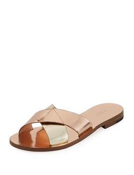 Ally Metallic Crisscross Slide Sandal by Botkier