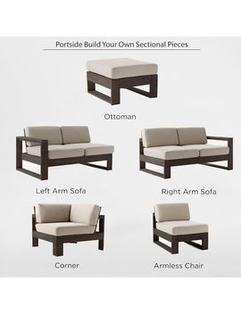 Build Your Own Portside Sectional   Weathered Cafe by West Elm